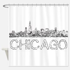 Chicago outline-4 Shower Curtain