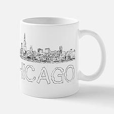 Chicago outline-4 Mugs