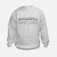 Chicago outline-4 Sweatshirt