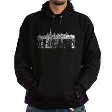 Chicago outline-4 Hoodie