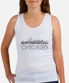 Chicago outline-4 Tank Top