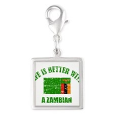 Life is better with a Zambian Silver Square Charm