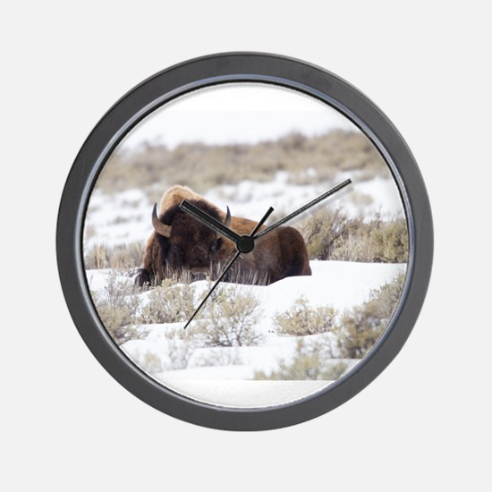 Bison Wall Clock