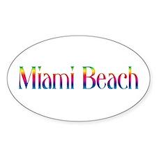 Miami Beach Oval Decal