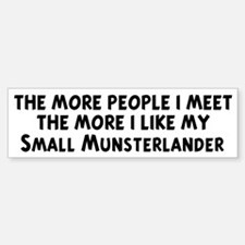 Small Munsterlander: people I Bumper Bumper Bumper Sticker