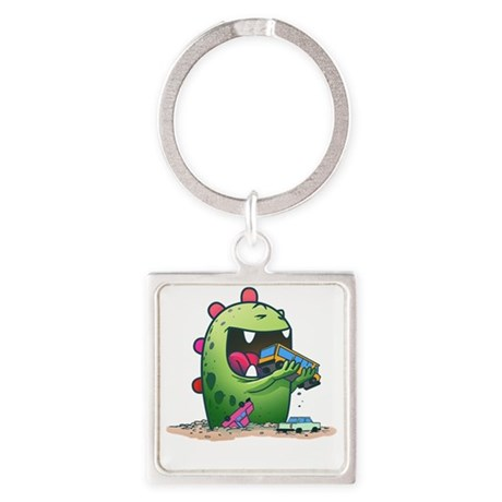 Monster Square Keychain