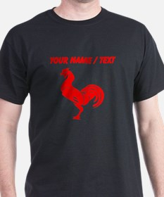 Custom Red Rooster Silhouette T-Shirt