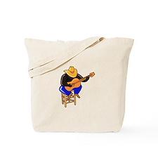 guitar player on stool dark skin Tote Bag