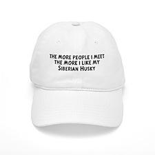 Siberian Husky: people I meet Baseball Cap