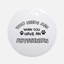 abyssinian designs Ornament (Round)