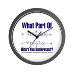 What part of Riemann's? Wall Clock