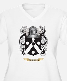 Timmins Family Crest (Coat of Arms) Plus Size T-Sh
