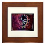 Purple Face Framed Tile
