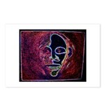 Purple Face Postcards (Package of 8)
