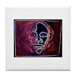 Purple Face Tile Coaster