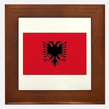 Albanian Flag Framed Tile
