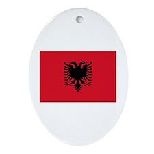 Albanian Flag Oval Ornament
