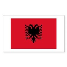 Albanian Flag Rectangle Decal