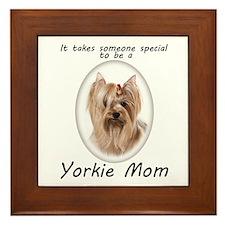Yorkie Mom Framed Tile