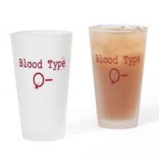 Blood Type O- Drinking Glass