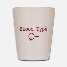 Blood Type O- Shot Glass