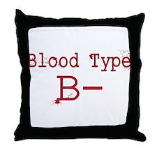 Blood Type B- Throw Pillow