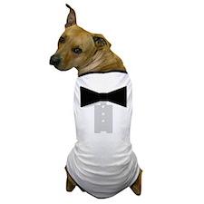 Black Tie Tuxedo Dog T-Shirt