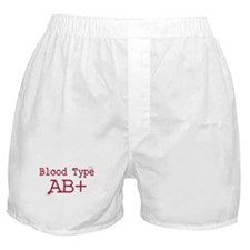 Blood Type AB+ Boxer Shorts