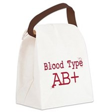 Blood Type AB+ Canvas Lunch Bag