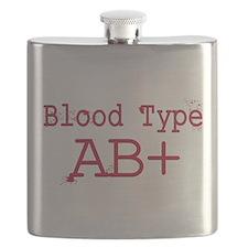 Blood Type AB+ Flask