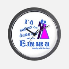 Dancing With Emma Wall Clock