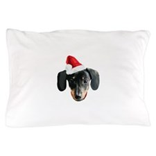Dachshund_Xmas_face001b Pillow Case