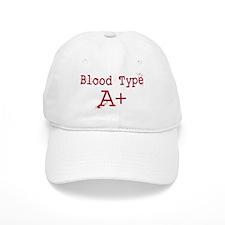 Blood Type A+ Baseball Baseball Cap
