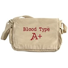 Blood Type A+ Messenger Bag
