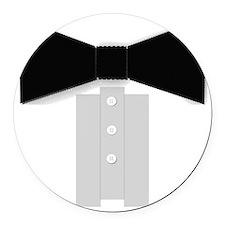Black Tie Tuxedo Round Car Magnet