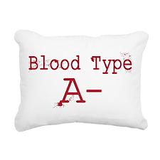 Blood Type A- Rectangular Canvas Pillow