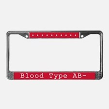 Blood Type AB- License Plate Frame