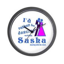 Dancing With Sasha Wall Clock