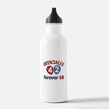 Officially 42 forever 18 Water Bottle