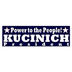 Power to the People Kucinich sticker
