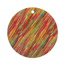 Colorful Scribbles Ornament (Round)