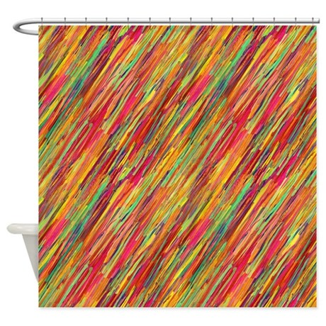 Colorful scribbles shower curtain by patternshoppe Colorful shower curtains