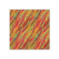 Colorful Scribbles Square Sticker 3 x 3