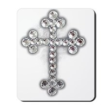 Bling Jewel Cross Mousepad