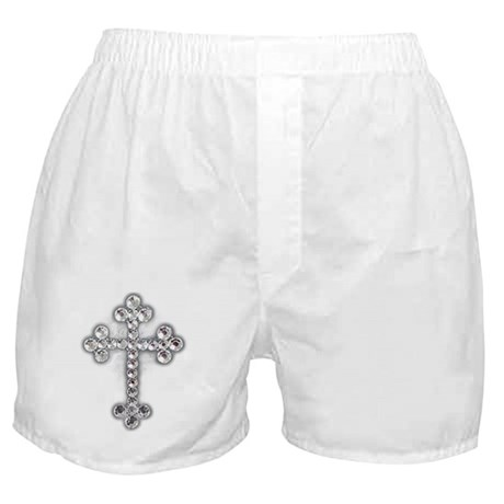 Bling Jewel Cross Boxer Shorts