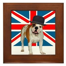 British Bulldog Framed Tile