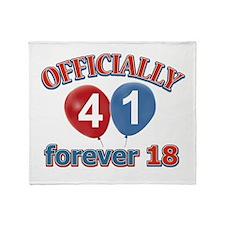 Officially 41 forever 18 Throw Blanket
