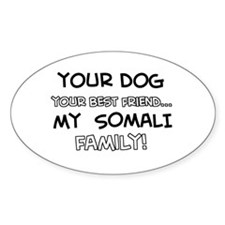 My Somali Cat is Family Decal