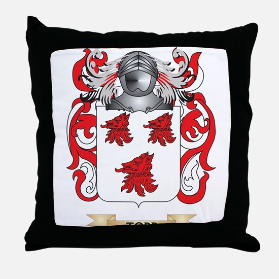 Todd Family Crest (Coat of Arms) Throw Pillow