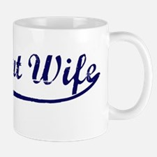 Vintage (Blue) Pregnant Wife Mug